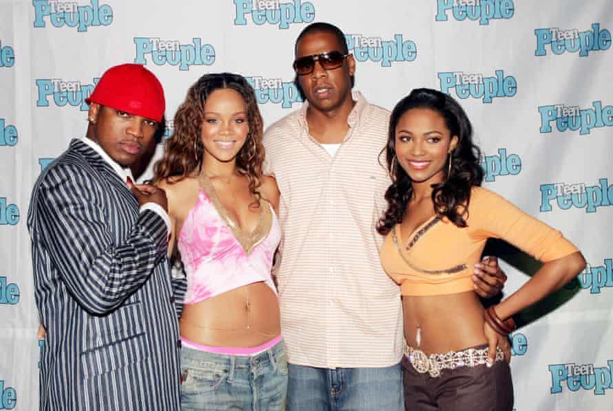 (From left) Ne-Yo, Rihanna, Jay-Z and Teairra Mari.