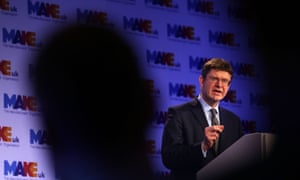 Business Secretary Greg Clark speaks during the National Manufacturing Conference in London.