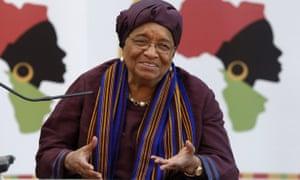 The president of Liberia, Ellen Johnson Sirleaf,