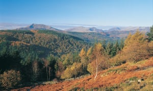 A view of Snowdonia national park from Betws-y-coed.