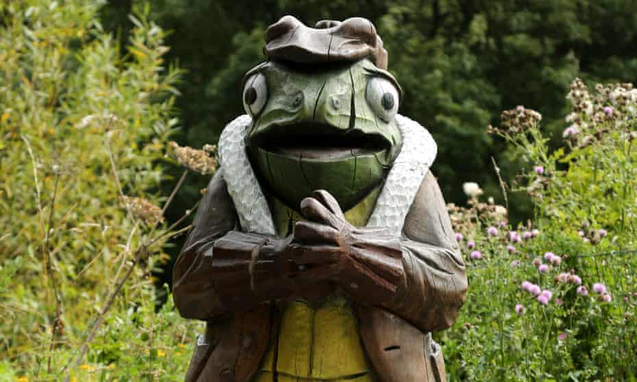 Mr Toad on the Wind in the Willows Trail .