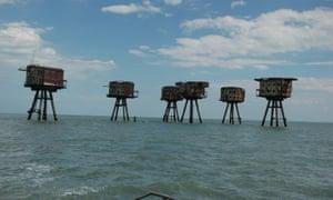 Sea forts. Photographs: from Chloe Dewe Mathews' Thames Log.