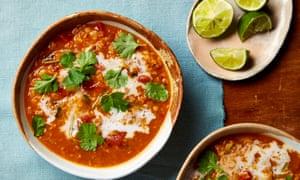 Yotam Ottolenghi's curried lentil and coconut soup.