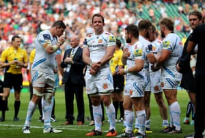 The disappointed Exeter Chiefs players.