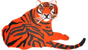 'The danger and the excitement at the mention of the name Shere Khan!' says author and illustrator Kevin Waldron, adding 'Here I created the moment where he sits at the mouth of the wolves' cave, demanding Mowgli be handed over to him. The child's destiny is intertwined with that of a ferocious predator of the jungle.'
