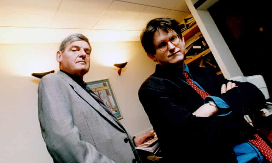 Peter Preston and Alan Rusbridger photographed in December 1996. Between them they edited the Guardian from 1975 to 2015