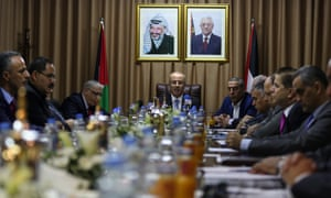 Rami Hamdallah leads the first cabinet meeting in Gaza since 2014.