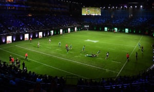 Ireland take on the Barbarians during the Rugby X at the O2 Arena.