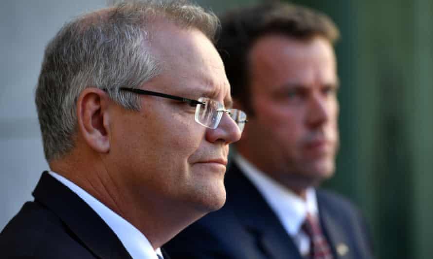 Prime minister Scott Morrison and Minister for Education Dan Tehan