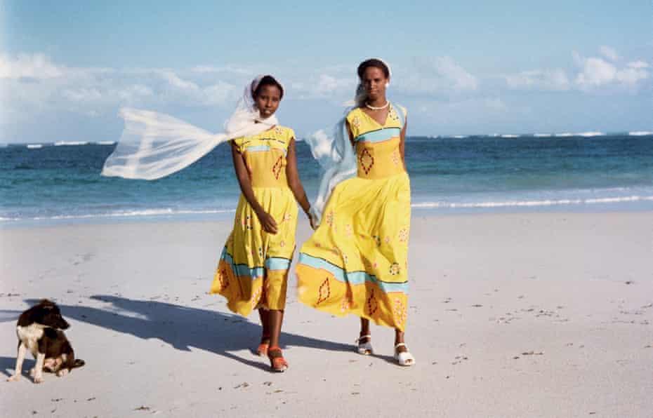 Detail of Two Women on the Beach, Somalia, 1958.