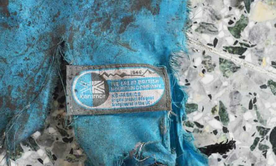 A piece of the rucksack thought to have been used by the bomber.