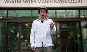 Lauri Love outside Westminster magistrates court in July 2016.
