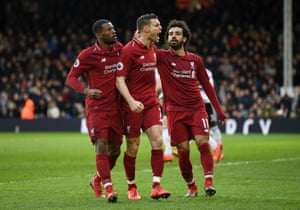 Fulham 1 2 Liverpool Premier League As It Happened Football The Guardian