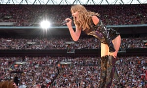Stadium gigs: nothing but trouble ... Taylor Swift performing at Wembley Stadium, 23 June 2018.