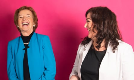 Mary Robinson, former president of Ireland, and comedian Maeve Higgins.