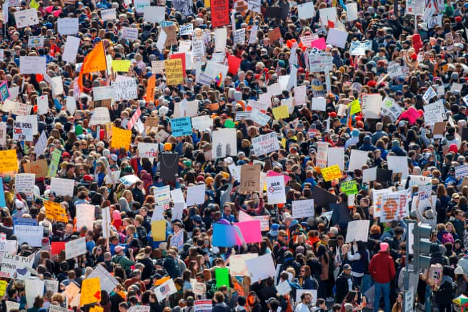 The March for Our Lives rally in Washington.