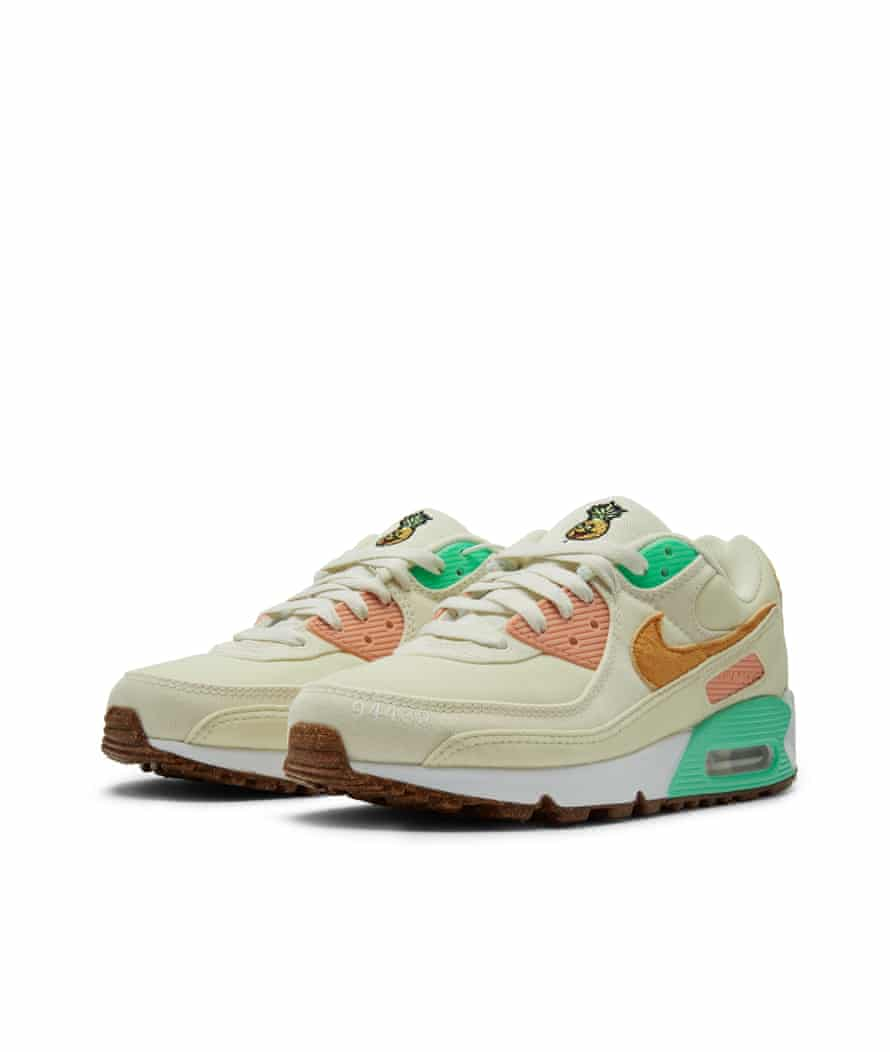 Trainers made from Nike's new Happy Pineapple range made from Pinatex pineapple leather