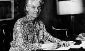 The social reformer, historian and economist Beatrice Webb.