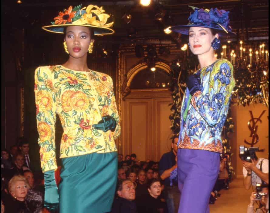 Naomi Campbell wore the jacket when it was unveiled by Yves Saint Laurent in 1988.