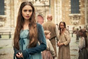 'Lavish': Lily Collins plays Fantine in Les Misérables.