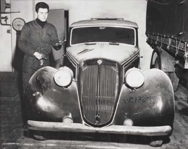 Italian dictator Mussolini's limousine in 1955, 10 years after his death at the end of the second world war.