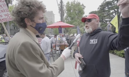 Interviewing a Trump supporter.