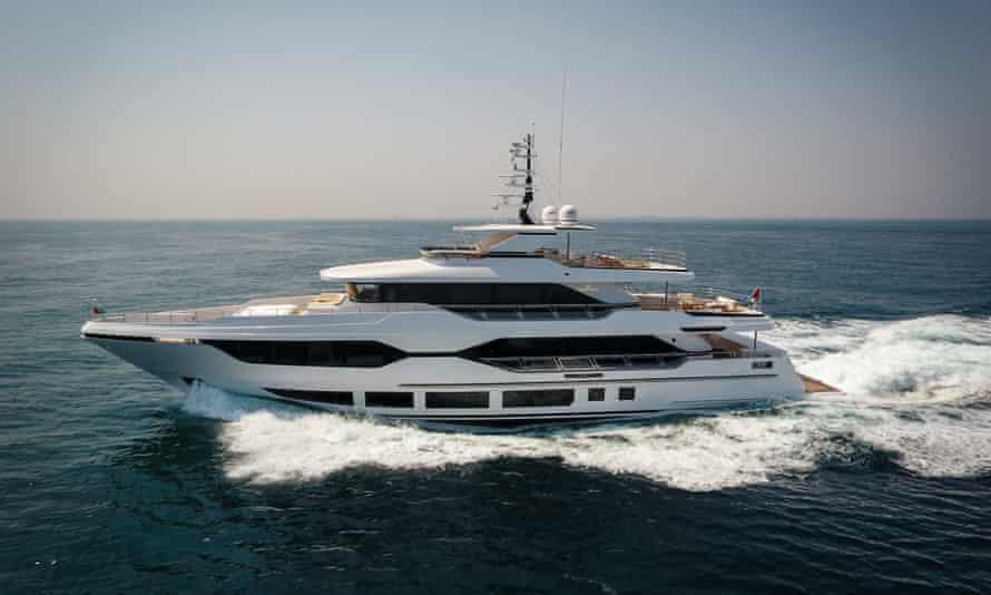 A Gulf Craft Majesty 120 superyacht
