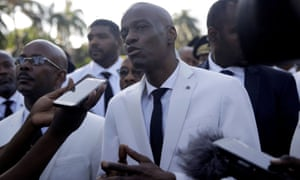 Haiti's President Jovenel Moïse at a ceremony marking the death of Jean-Jacques Dessalines, in Port-au-Prince earlier this year.