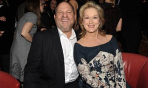 Harvey Weinstein and Meryl Streep in 2012: she once called him god in a speech.