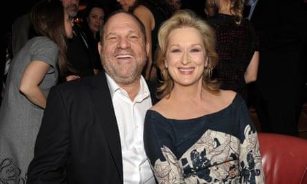 Meryl Streep with Harvey Weinstein in 2012.