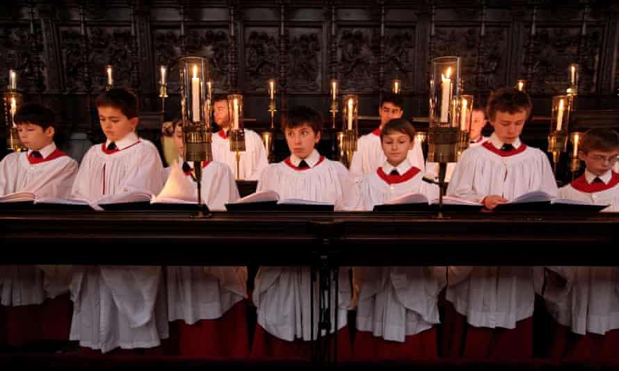 A rehearsal of A Festival of Nine Lessons and Carols.