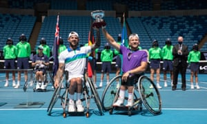 Dylan Alcott and Heath Davidson