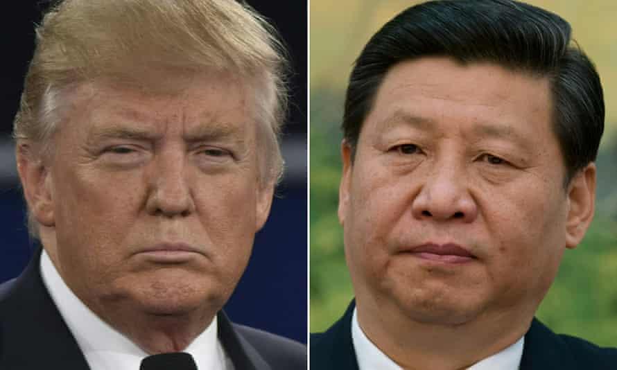 Donald Trump and Xi Jinping in Beijing.