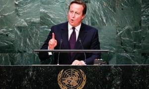 David Cameron at the UN in September 2015