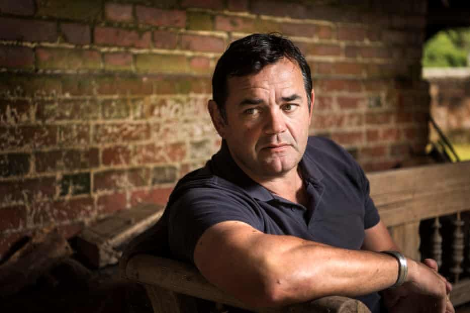 Will Carling in his garden