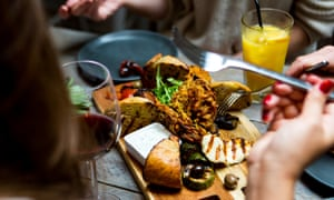 Food at The Herringbone in Goldenacre, Scotland.