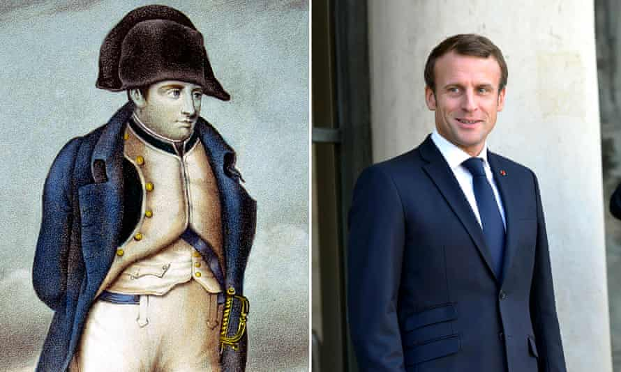 Napoleon and Emmanuel Macron (composite)