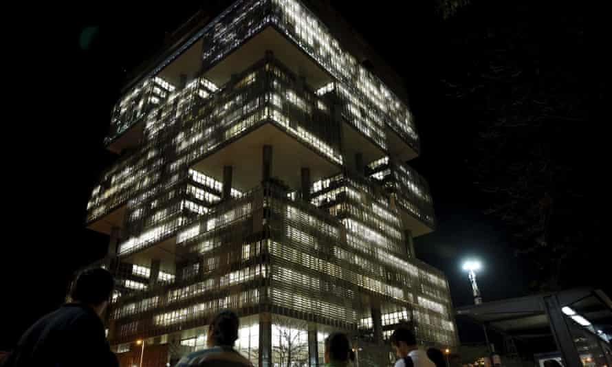The Petrobras headquarters is seen in Rio de Janeiro, Brazil.