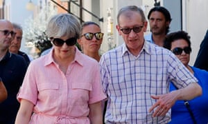 Theresa May and husband Philip on holiday in northern Italy in July