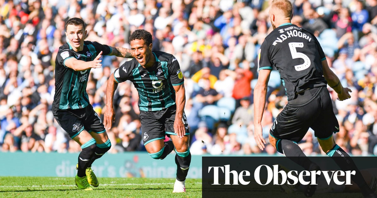 Wayne Routledge secures win for Swansea to displace Leeds at the top