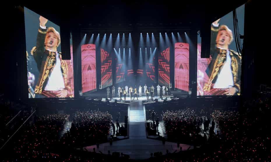 BTS performing at the O2.