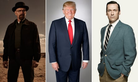 Three angry men: Walter White, Donald Trump and Don Draper.