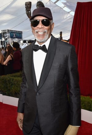 Morgan Freeman who received a lifetime achievement award from the Screen Actors Guild