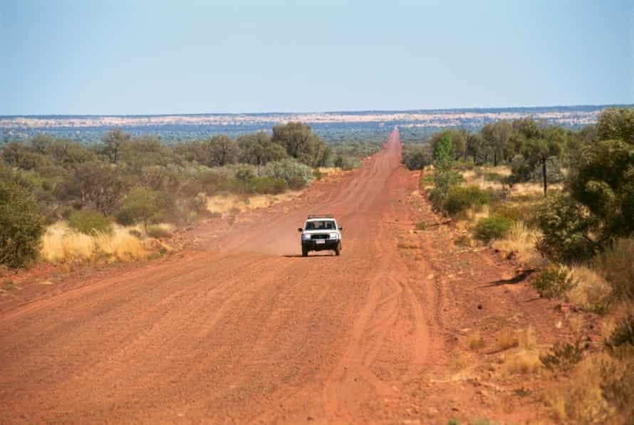 Car on a central Australian dirt road