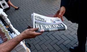 London's Evening Standard.