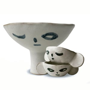 Long-necked bowl and big-eared bowls, £35 each, by Madoka Rindal, cupandcloth.com