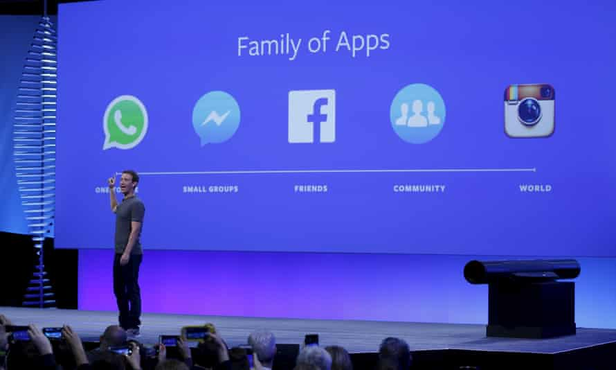 Mark Zuckerberg speaks at the Facebook F8 conference in San Francisco this month.