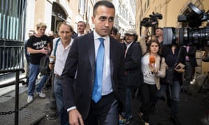 The M5S leader Luigi Di Maio held talks on the new cabinet.