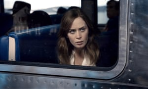 Emily Blunt as Rachael Watson in the film version of The Girl on the Train, by Paula Hawkins.