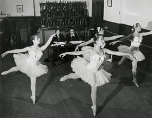 Candidates in Major Examinations watched by the examiners, Phyllis Bedells and Adeline Genée